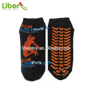 Customized Anti-Slip Cotton Trampoline Socks, Trampoline socks yellow, Trampoline socks Grip