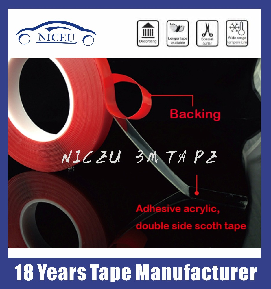 High adhesion Acrylic 3M 4910 Clear transparent double side foam tape