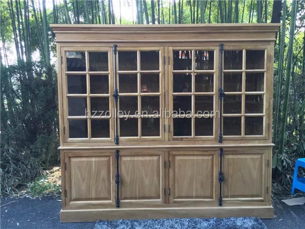 antieke massief houten woonkamer meubels houten hoekkast