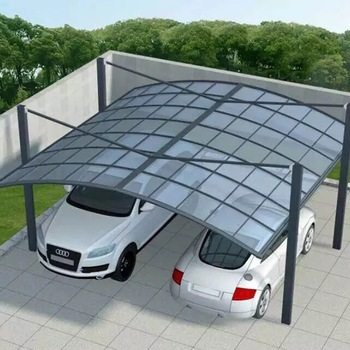 white metal frame 2 car parking canopy tent with polycarbonate sheet & White Metal Frame 2 Car Parking Canopy Tent With Polycarbonate Sheet ...