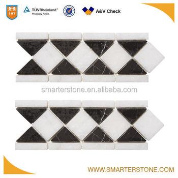 Triangle Shape Stone Tile Marble Mosaic