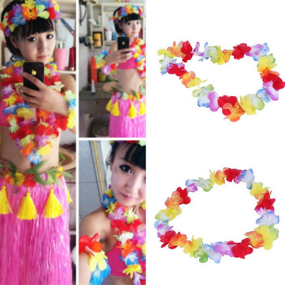 Hot 1pc Colorful Headwear Flower Garlands Hawaiian Tropical Party font b Fancy b font font b