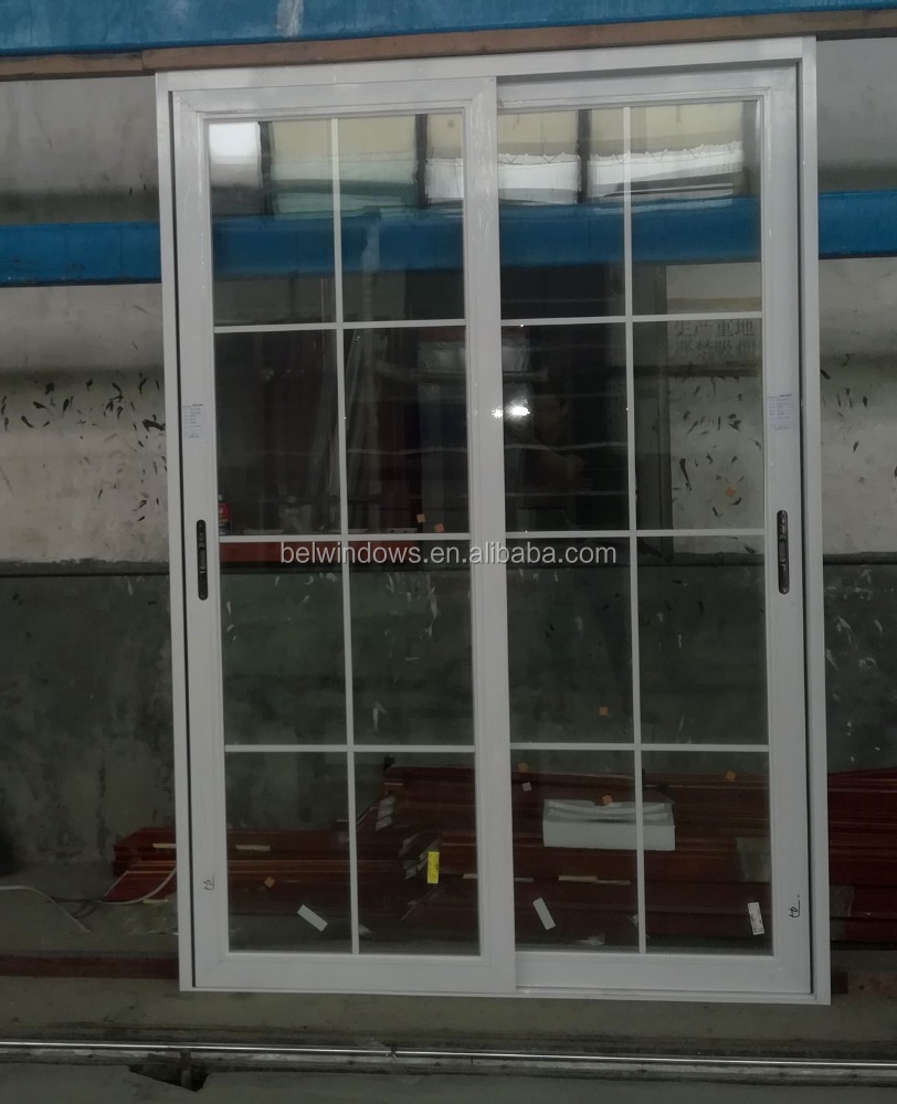 Sliding Type Aluminum Frame Grill Glass Door Buy Sliding Glass