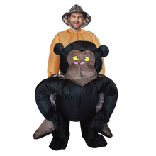 Adult Carry Me Costume Inflatable Animal Suit Chimpanzee Moscot Costume