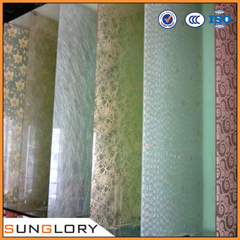 9+9mm Tempered Laminated Texture Glass,Decorative Glass Panels