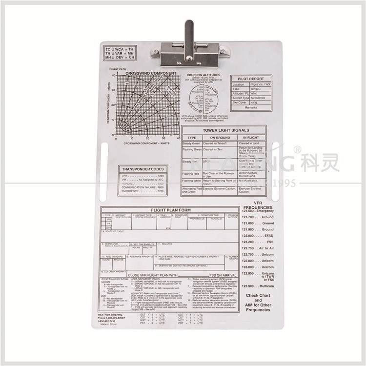 Chinese Aviation Supplies Aluminum Aero Kneeboard (clipboard ...