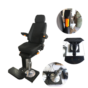 China pneumatic lifting and pedaling marine boat pilot chair with rail