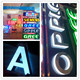 Custom outdoor any font laser engraved 3D led acrylic alphabet letter, standing ABS alphabet letter