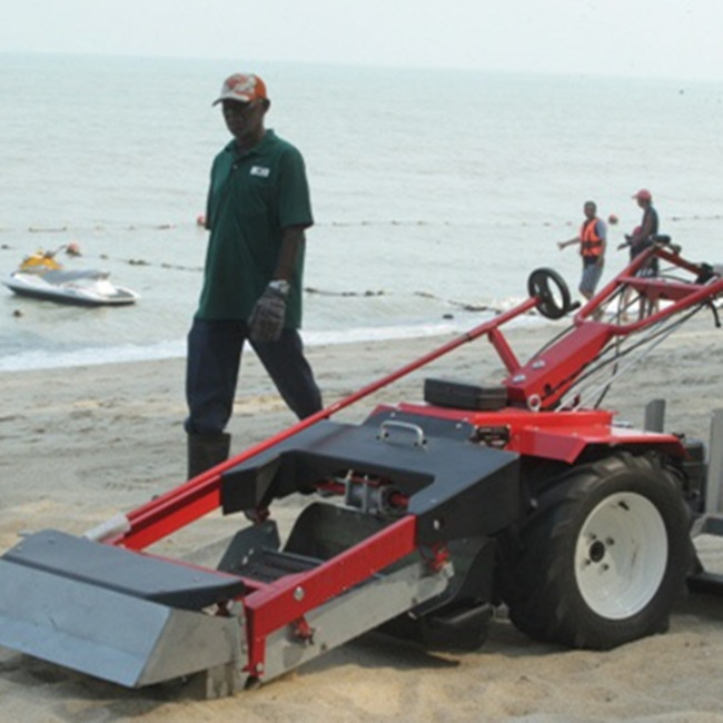 Hot Sale Walk Behind Beach Cleaning Machines For Removing Stone From Beach Sand