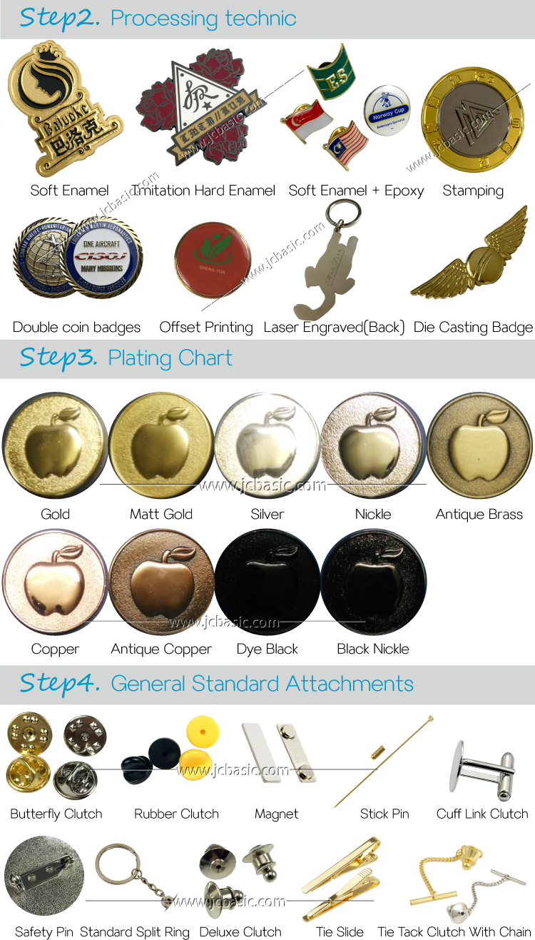 star shaped metal security badges fake badges