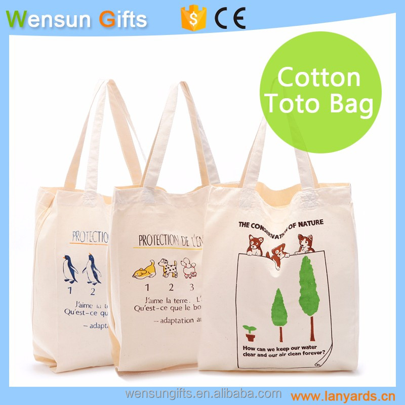 ECO Organic cotton bag promotional gifts custom OEM