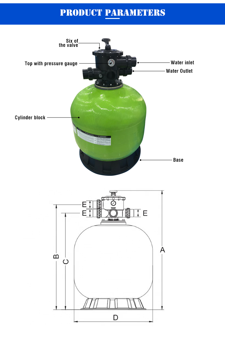 New Design Water Treatment Plastic Fish Pond Filters UVC Garden Pressurized Pool Filter