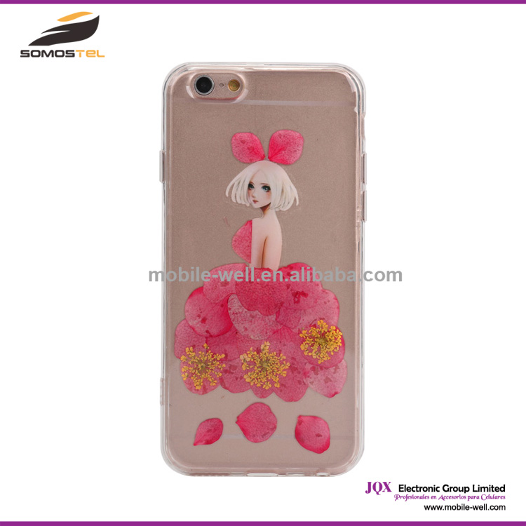 [Somostel] Beautiful real flower design mobile phone cases for iphone 4 5 5c 6 6 Plus for samsung