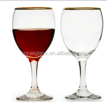 45a58607841c Gold Rimmed Red-white Wine Glasses