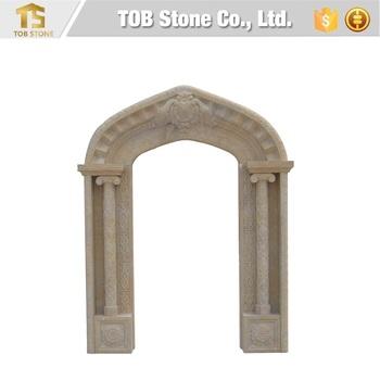 Decorative Limestone Arch Door Frame Design