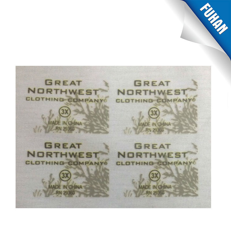 Silver reflective ink heat transfer label