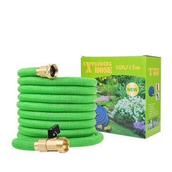 2019 Amazon Best Sell 100' 50' Expandable Garden Hose, Water Hose Pipe with 3/4' Brass Fittings