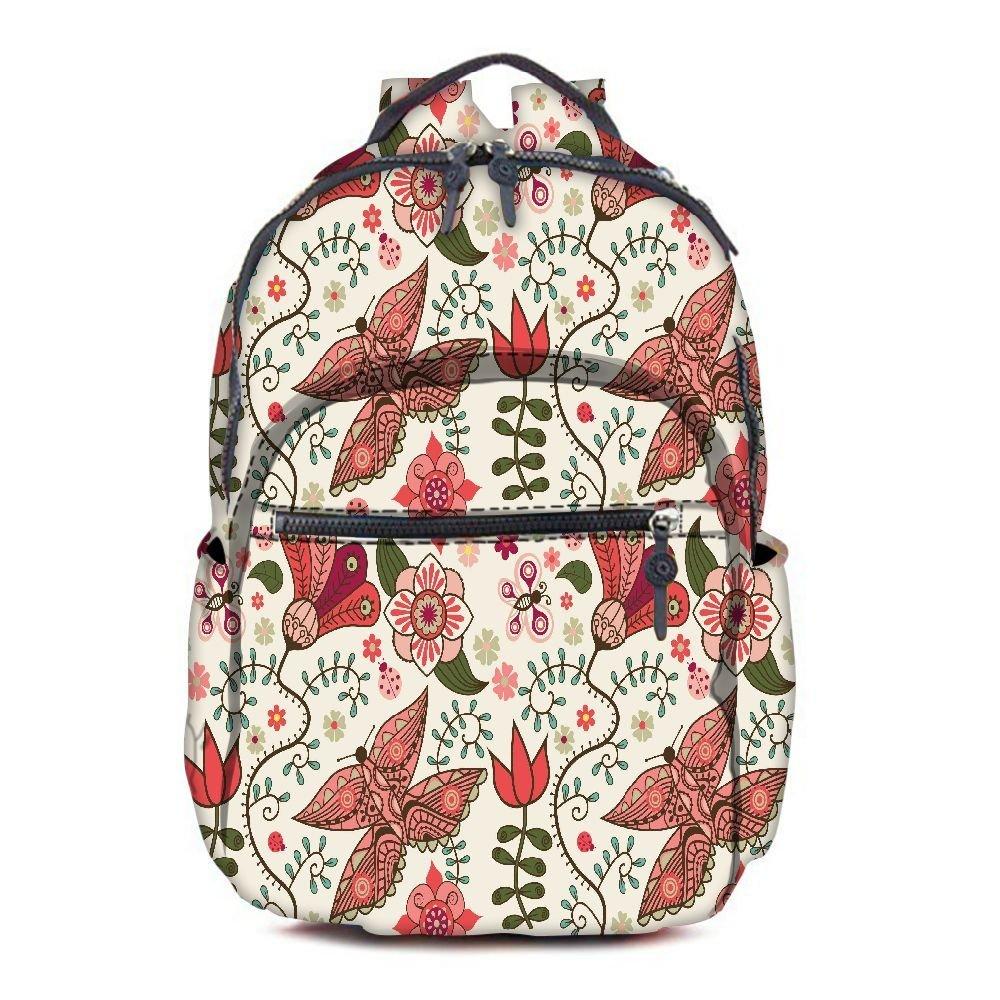99c0dbdc6e20 Get Quotations · Snoogg Lite Butterfly Printed Vintage Durable Canvas  Satchel Backpack Tablet Rucksack Shoulder School Gym Book Bag