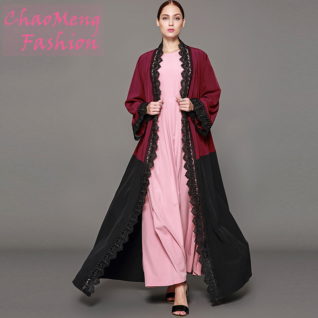 1565#modest long sleeve of latest designs clothes women abaya muslim dresses in dubai 2014, As shown