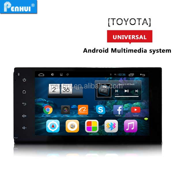 PENHUI <strong>Android</strong> 6.0 quad core Car PC GPS For <strong>Toyota</strong> <strong>Universal</strong> (2000-206) Length*Width=20*10 CM CPU 1.6G HZ ROM 16G RAM 1G