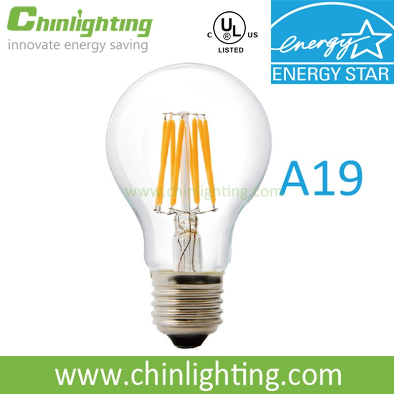 High quality led filament 90Ra 80Ra Good Dimming ENERGY STAR Approved E26 E12 led bulb
