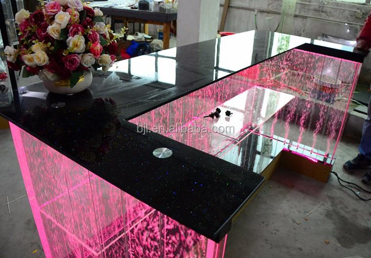 Illuminazione a led moderno bancone da bar led di ricezione da