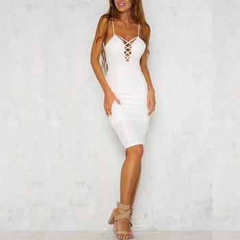 witte strakke jurk