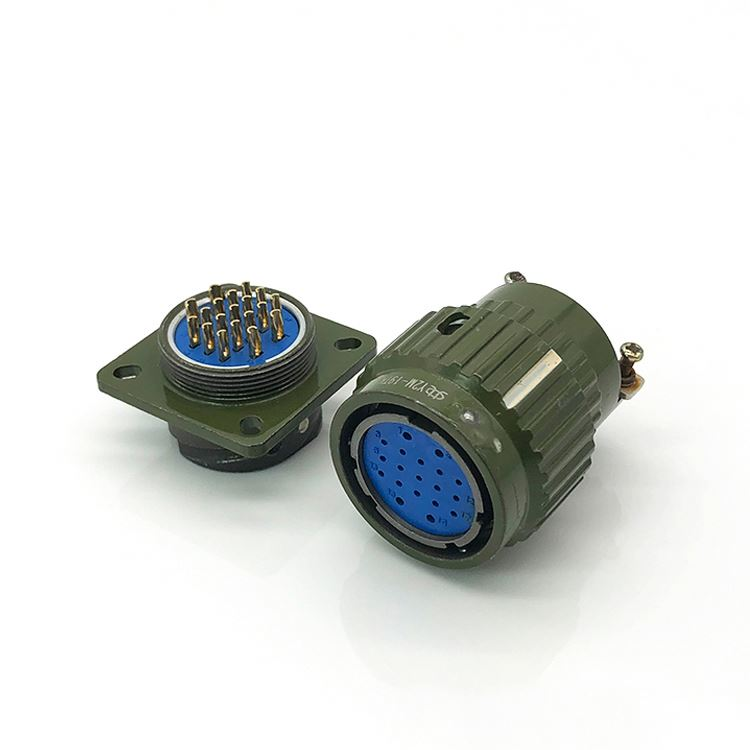 YP21 type socket sealed automotive cable and flange connector