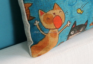 original surrender cat car use colored drawing creative polyester & cotton soft sofa cushion