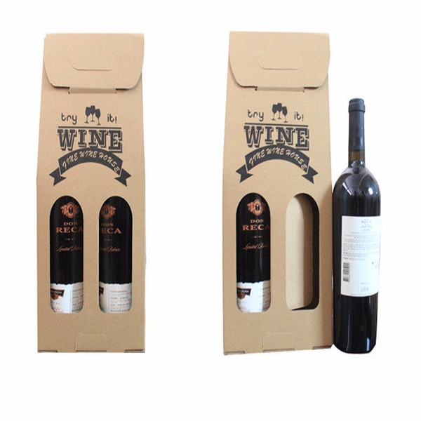 Custom hand made red wine transport package