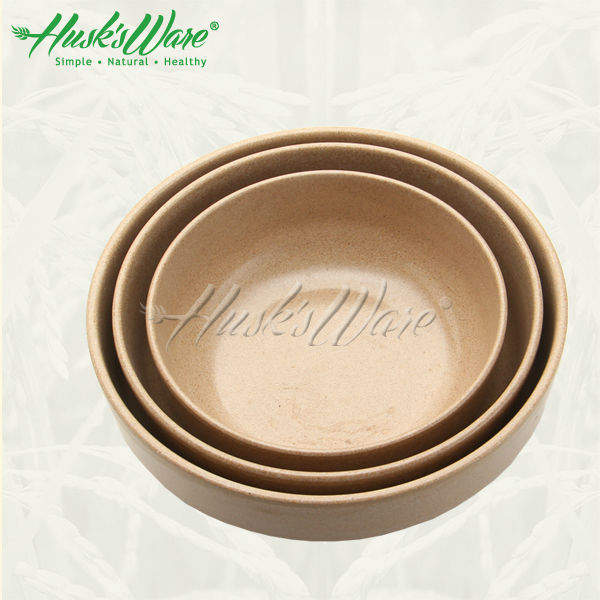 Eco Round Rice Husk Fiber Storage Box Food Finisher Holder Home Organizer Accessories Supplies Gear Stuff Product