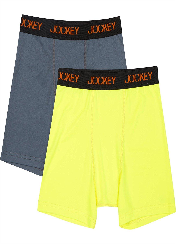 70c187e8076 Get Quotations · Jockey Boy s Underwear Boys Performance Boxer Brief - 2  Pack