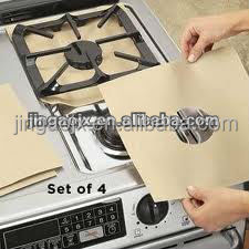 PTFE Non stick gas range protectors,4pcs/ set