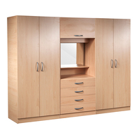easy assemble portable modern clothing cabinet wardrobe with TV cabinet