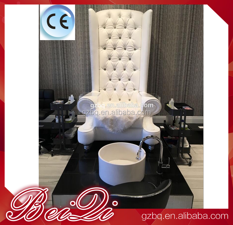 Used Nail Salon Furniture Queen Pedicure Spa Chair High Back Throne Chair King Pedicure Chairs