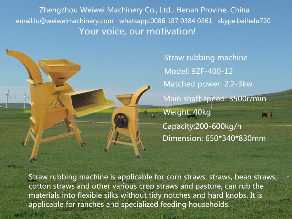 Straw and corn crusher and grinder