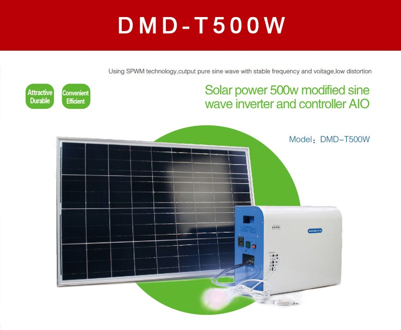 Competitive Price 500 Watt 12v 24v Dc Ac Off Grid Solar