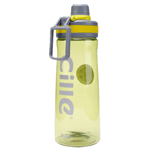 Big water bottles 1.3 liter hot sale wide mouth curved plastic sports bottle with handle 100% food grade