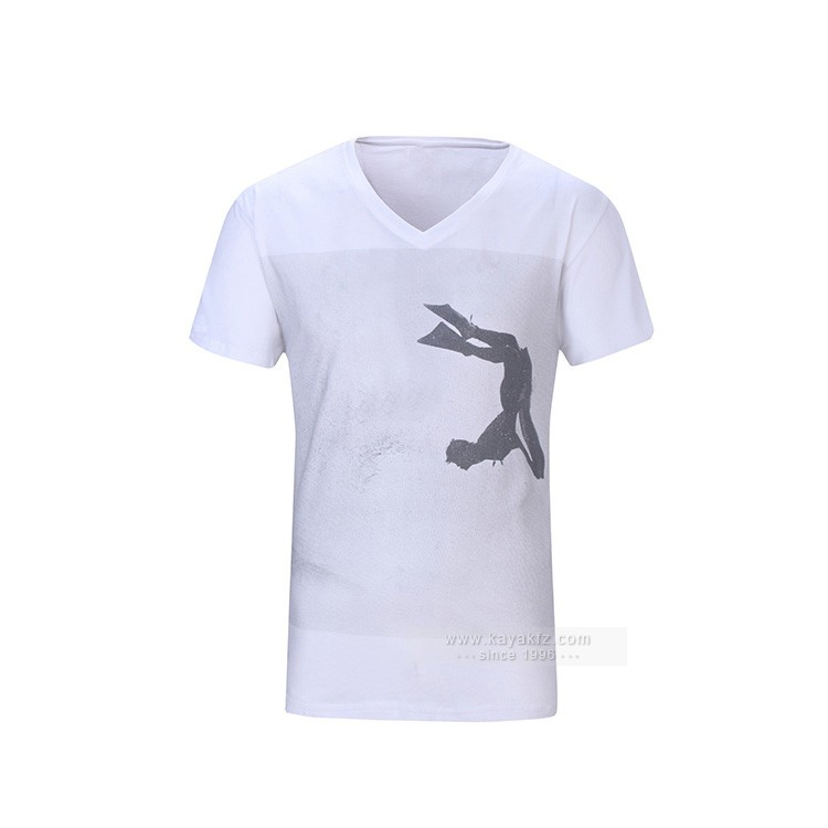 custom cotton v neck men / womens t shirt