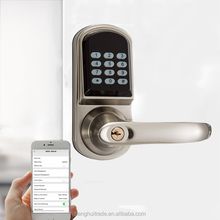 New bluetooth Zinc Alloy smart digital mobile phone electronic NFC door lock