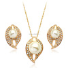 Costume nacklace jewellery set gold pearl jewelry set evil eye shaped jewelry set