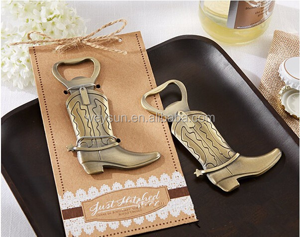 wedding favor gift and giveaways for guest -- Boots shoes bottle opener