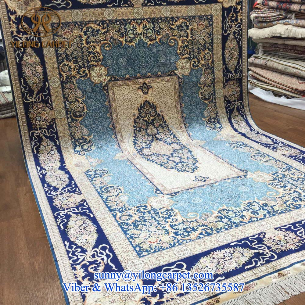 Hand Knotted Indian Silk Rugs Xcyyxh