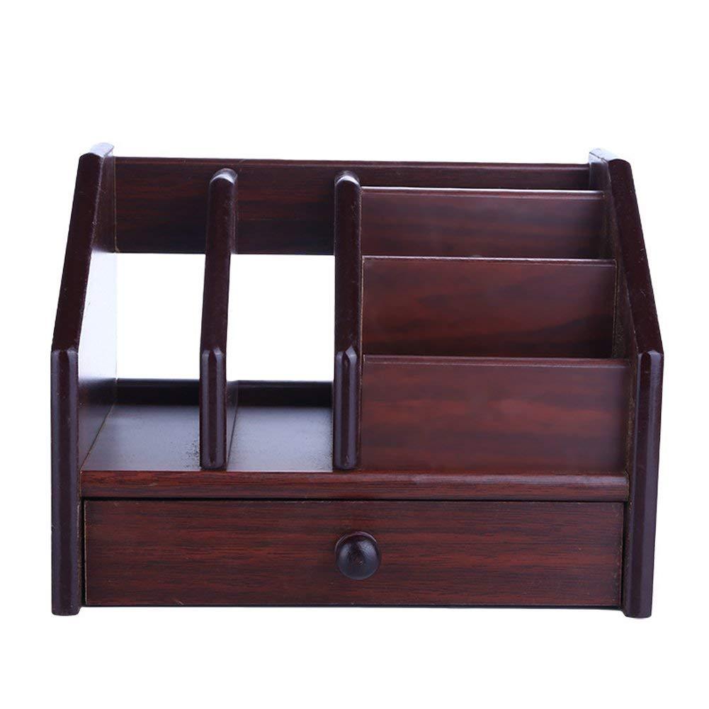 Buy Wooden Desk Organizer, Lalago Wood Desktop Organizer 1