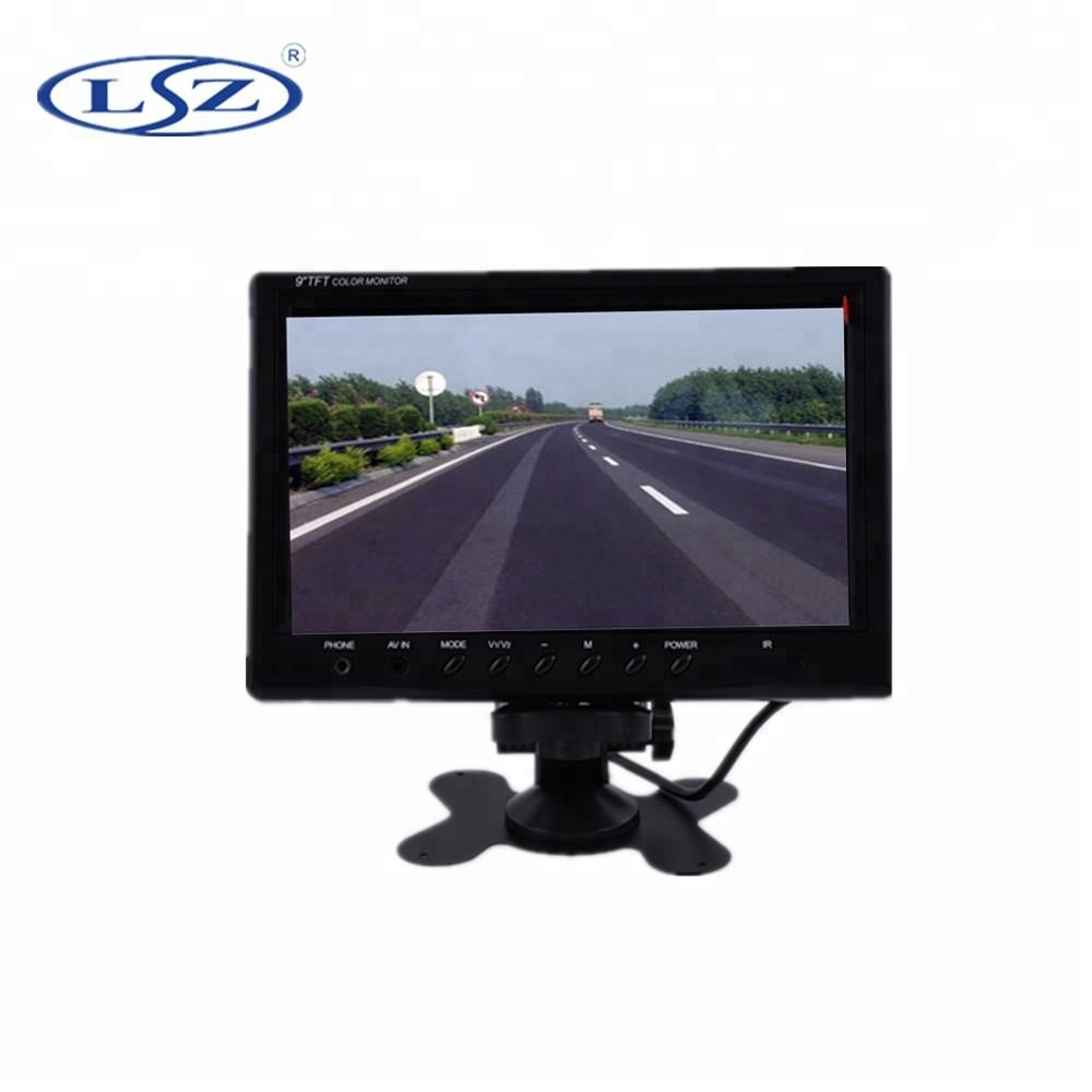 9inch TFT LCD Vehicle <strong>Monitor</strong> 12V with 4AV for bus taxi truck train school bus