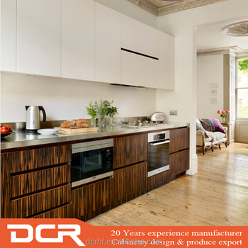 Australia Lacquer Wood Veneer Modern Small Kitchen Design Buy