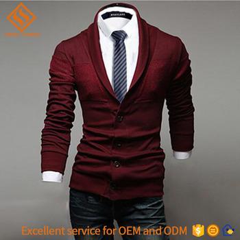 Vest Trui.2017 Herfst Huid Strakke Lange Mouw Trui Man 12gg Knit Plain Vest