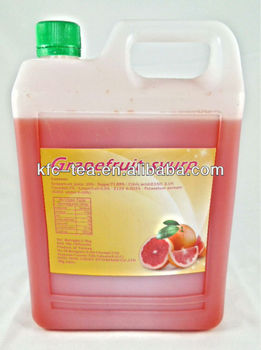 Grapefruit concentrated fruit juice for Taiwan bubble tea