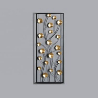 Mayco Luxury 3D Gold Metal Wall Art Flower Home Decor