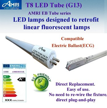 T8 Led Lamps Work With Electronic Ballast;retrofit Led T8; Direct ...
